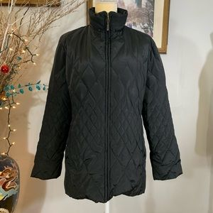 Gallery Women's black puffer down coat Sport Sz L
